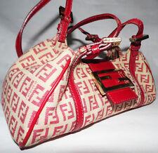 FENDI Small Zucchino Logo Monogram Canvas Handbag - Hobo Tote Purse - EUC!