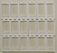 LEGO LOT OF 18 NEW 1 X 2 X 3 WHITE WINDOWS WITH GLASS TOWN HOUSE TRAIN PIECES