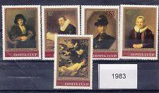 Urss 1983 serie quadri di Rembrndt 4984-88   MNH