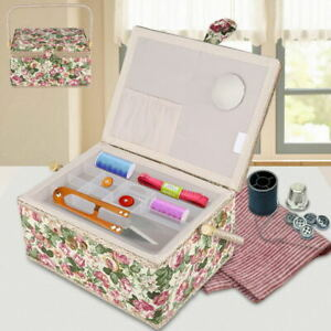 FABULOUS SEWING BOXES BASKETS PAINTED CRAFT SUNDRY STORAGE ORGANIZER With HANDLE