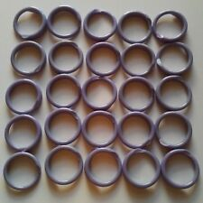 """100 PURPLE Poultry Spiral ID Leg Bands Standard Size 11 Chicken 11/16"""" One Color"""