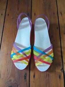 Crocs Rainbow Sandals UK 8