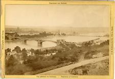 J.H. Schönscheidt, Cöln a. Rhein, Panorama von Koblenz  Vintage albumen print.