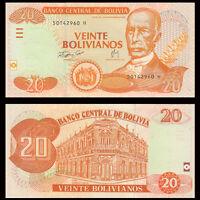 Bolivia 20 Bolivianos, 1986 (2007), P-234, banknote, UNC