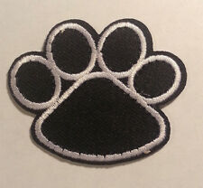 Clifford the Big Red Dog Black PAW Print Embroidered Sew On/ Iron On Patch