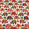 Printed Linen * 100% Pure Cotton 150cm wide Sold Per Metre Elephants