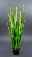 Fuchsschwanzgras 70cm im Topf YF Kunstpflanzen Grasbusch Kunstgras Dekogras