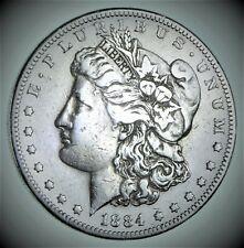 1884-S Morgan Silver Dollar - Very TOUGH - High Redbook *928 V3