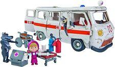 Playset Ambulancia de Masha y el Oso con 3 figuras y accesorios (Simba 930986 TV