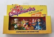 Vintage The Chipmunks Figure Set When I Grow Up. Alvin, Simon, Theo SEALED!!1983
