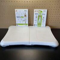 Nintendo Wii Fit Balance Board Bundle w/ Wii Fit Plus & Wii Fit-Tested-Free Ship