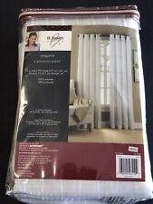 B. Smith W/Style Origami Grommet Window Curtain Panel - White 50� W x 95� L