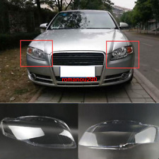 Fit For Audi A4 B7 2006-2008 Left and right Headlight Headlamp Lens Cover 2pcs