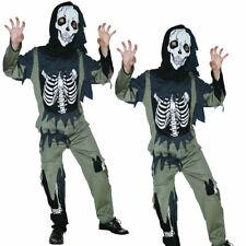 Niños Halloween Horror Zombie Esqueleto FANCY DRESS COSTUME CHILDS Esqueleto Nuevo