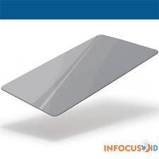 Metallic Silver Premium Plain Coloured PVC ID Cards - 30Mil Pack of 100