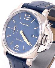 Panerai LUMINOR DUE Blue Dial Titanium 42mm Watch Pam 927 - PAM00927 -Brand New