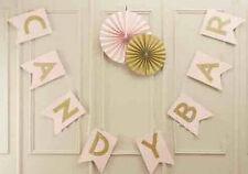 Candy Bar Girlande rosa Hochzeit Dekoration Party Fest Feier Süßigkeiten Vintage