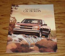 Original 1996 Chevrolet Truck C/K Pickup Sales Brochure 96 Chevy Silverado