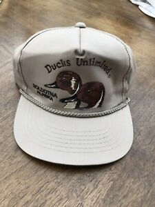 Vintage Ducks Unlimited Snapback Hat Embroider Rope Trucker Cap Soldotna Alaska