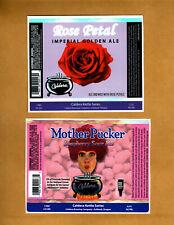 Set Of 6 Rare Micro Beer Labels Caldera Ashland Or !