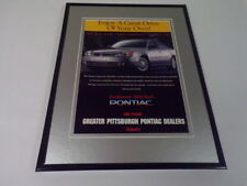 1998 Greater Pittsburgh Pontiac / Grand Am 11x14 Framed ORIGINAL Advertisement