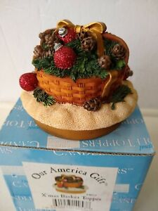 Our America Yankee Candle X'MAS BASKET 4053 Christmas Candle Topper