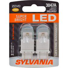 2-PK SYLVANIA ZEVO 4157 Amber LED Automotive Bulb - also fits 3457 & 3157