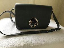 Kate Spade Nicola Twistlock Small Shoulder Bag In Dark Green Leather