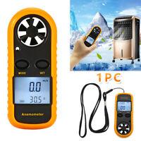 Digital Air Wind Speed Anemometer Temperature Gauge Meter Tester Thermometer Hot