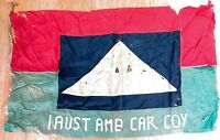 .WW2 INCREDIBLY RARE / MUSEUM QUALITY 1ST AUST AMBULANCE CAR COY LARGE BANNER
