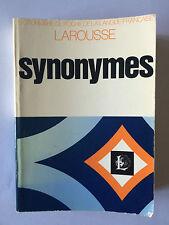 LIVRE DES SYNONYMES 1974 LAROUSSE DICTIONNAIRE DE POCHE
