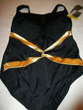 WOMENS PLUS SIZE 24W ONE PIECE SWIMSUIT/ BATHING SUIT BY  LONGITUDE  NWT  LOVELY