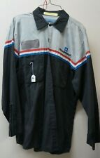 GM Mechanic Shirt Long Sleeve Large uniform Goodwrench auto work L #79