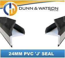 Black 24mm PVC 'J' Weather Seal - 3000mm Length (Trucks, Trailers, Canopies)