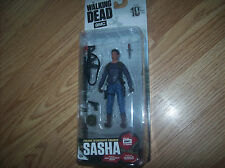 The Walking Dead TV McFARLANE SERIES 10 SASHA FIGURE In Hand VHTF SASHA FIGURE N