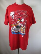 F3059 VTG 90s St. Louis Cardinals MLB Baseball 50/50 T-shirt Size L Made in USA