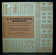 Jean Fournier Gerlin/Charbonnier Vivaldi/Bach The Baroque Concerto VG 1954 AS-31