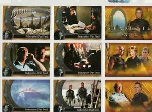 RITTENHOUSE - STARGATE SG-1 SEASON 6 COMPLETE BASE CARD SET 72 IN POCKET PAGES