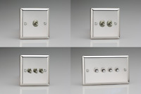 Mirror Chrome Classic Toggle Light Switches 10 Amp 2-Way - Gang Options