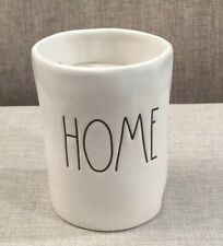 """NEW RAE DUNN BY MAGENTA """"HOME"""" PALM WAX CANDLE IN VANILLA 4-1/4"""" TALL X 3"""" WIDE"""