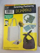 Simplicity Sewing Patterns for Dummies 7161 One Size Soft Bag Purse Uncut 2002