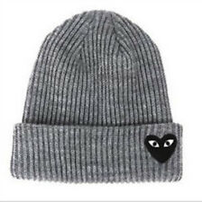 New Men's Women Red Love Heart Beanie Knit Hip-Hop Winter Warm Wool Hat