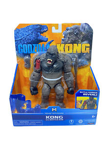 Godzilla vs Kong KONG WITH BATTLE AXE Battle Damage Reveal Playmate Monsterverse