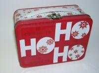 Ho Ho Ho Christmas Miniature Metal Lunchbox
