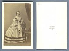 Durand, Lyon, Madame Matheron  CDV vintage albumen carte de visite,  Tirage al