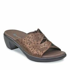Aravon Petra WSP03BZ Bronze Patent Sandals Shoes 7 B