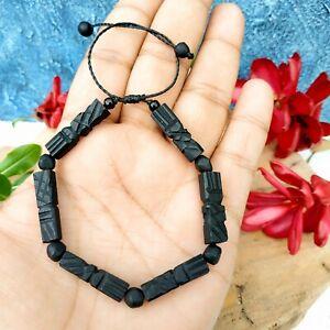 Azabache Bracelet Protection Adult - Jet Black Figa Hand Charm Evil Eye