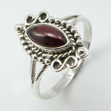 925 Sterling Silver GARNET Handcrafted Ring Size T