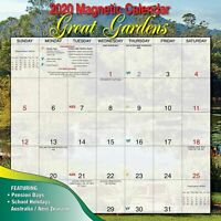 2020 Great Gardens Magnetic Wall Calendar 30 x 30cm by Bartel MC004 FREE POST
