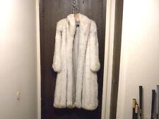 FURVIEN PARIS WOMEN'S LARGE BLUE FOX FINE FEATHERING COAT FUR ORIGIN FINLAND EXC